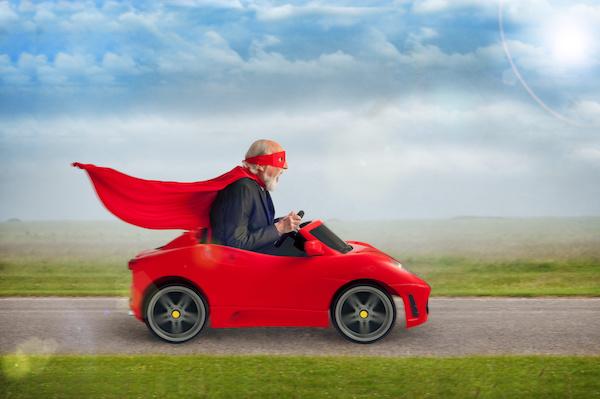 Senior self-driving cars
